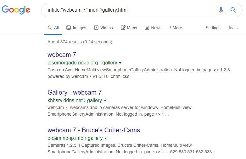 374 Online Cameras via Google